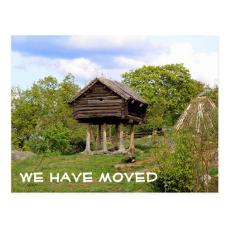 We have moved | postcard