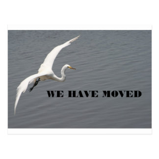 WE HAVE MOVED POSTCARD