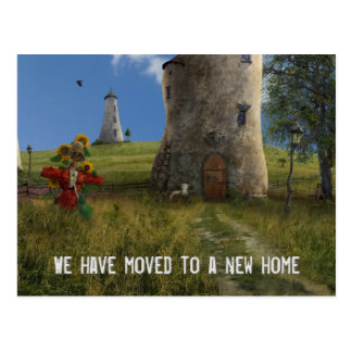 We have moved to a new home - Postcard invitation