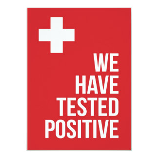 """We have tested positive... 5.5"""" x 7.5"""" invitation card"""