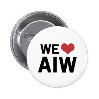 We Heart AIW 2 Inch Round Button