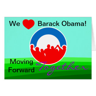 We Heart Barack Obama Vote on 11/06/12 Card