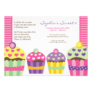 We Heart Cupcakes Invitation