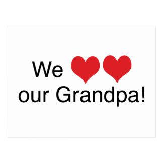 We Heart Grandpa Postcard