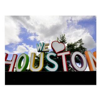 we heart houston postcard