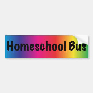 We Homeschool Here Bumper Sticker