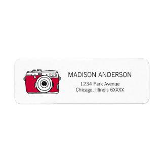 We Just Click Camera Valentine Address Labels