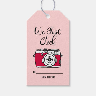 We Just Click Camera Valentine Gift Tags