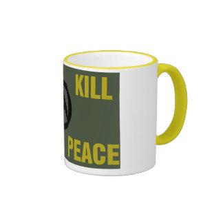 """We Kill For Peace"" Anarchy coffee mug"