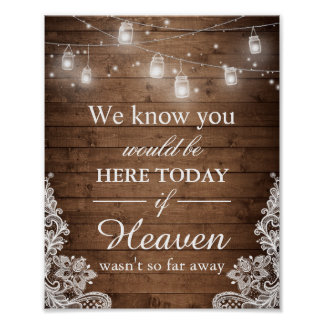 We Know You Would Be Here Rustic Wedding Sign