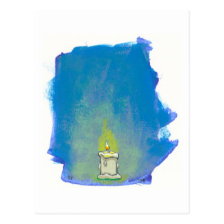We Light a Candle & Give Thanks inspirational art Postcard