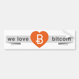 We Love Bitcoin Bumper Sticker