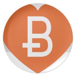 We Love Bitcoin Plate