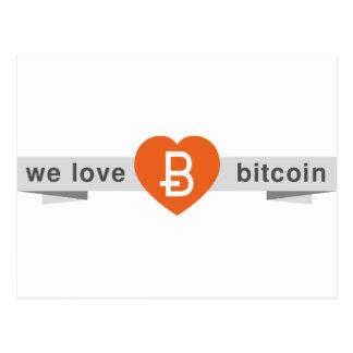 We Love Bitcoin Postcard