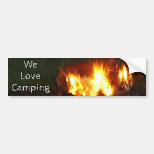 """We Love Camping"" Bumper Sticker"