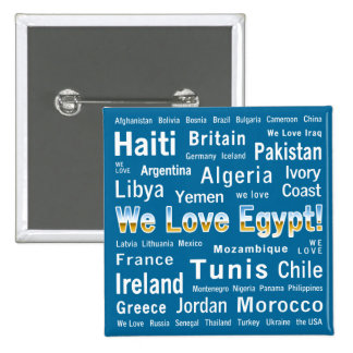 We Love Egypt, et al 2 Inch Square Button