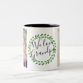 We Love Grandpa Custom Photo Mug