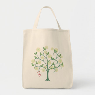 We Love Green Bird llustration Eco Tote