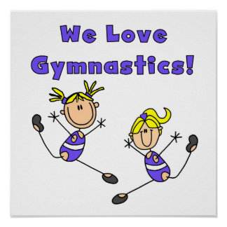 We Love Gymnastics Poster