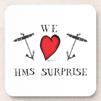 we love hms surprise, tony fernandes drink coasters