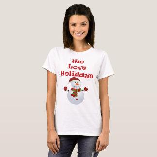 We love holidays shirt