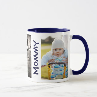 WE LOVE MOMMY Custom Kids 3 Photos Mothers Day Mug