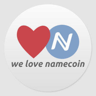 We Love Namecoin Round Sticker
