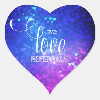 We Love Referrals Bokeh Lights realtor sticker