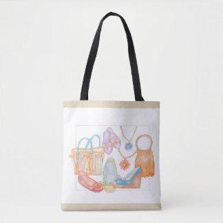 We love summer! original tote bag in light brown