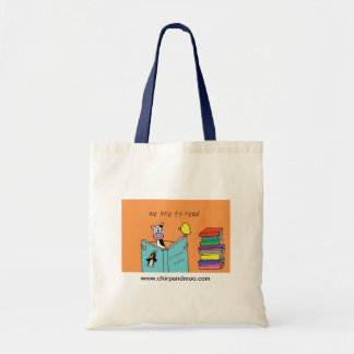 We love to read! tote bag