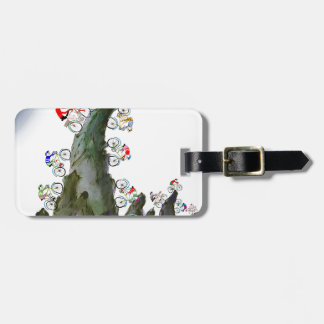 we love tour d' yorkshire luggage tag