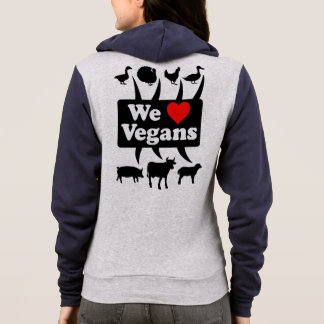 We love Vegans II (blk) Hoodie