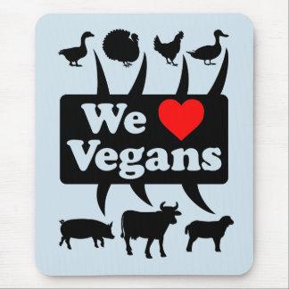 We love Vegans II (blk) Mouse Pad