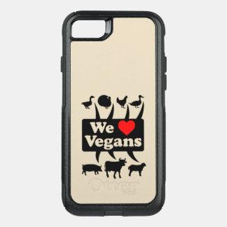 We love Vegans II (blk) OtterBox Commuter iPhone 8/7 Case