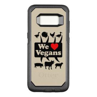We love Vegans II (blk) OtterBox Commuter Samsung Galaxy S8 Case