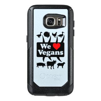 We love Vegans II (blk) OtterBox Samsung Galaxy S7 Case