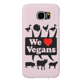 We love Vegans II (blk) Samsung Galaxy S6 Case