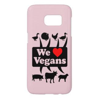 We love Vegans II (blk) Samsung Galaxy S7 Case