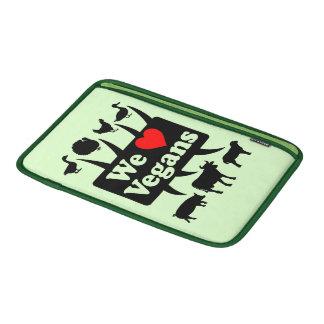 We love Vegans II (blk) Sleeve For MacBook Air