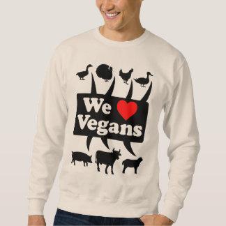 We love Vegans II (blk) Sweatshirt
