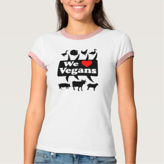 We love Vegans II (blk) T-Shirt