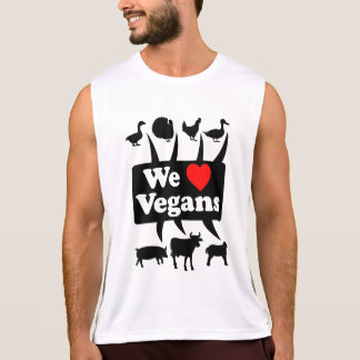 We love Vegans II (blk) Tank Top