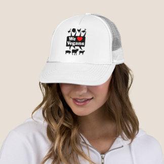 We love Vegans II (blk) Trucker Hat