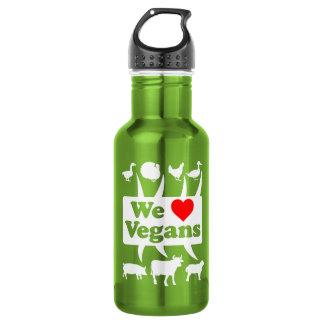 We love Vegans II (wht) 532 Ml Water Bottle