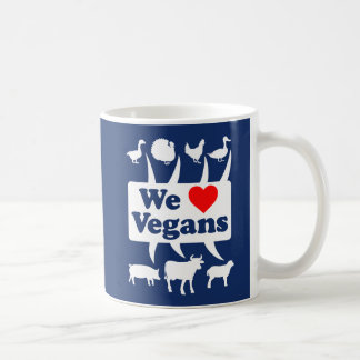 We love Vegans II (wht) Coffee Mug