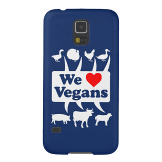 We love Vegans II (wht) Galaxy S5 Case
