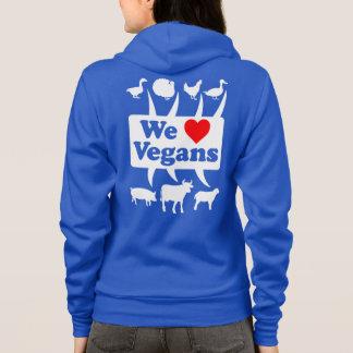 We love Vegans II (wht) Hoodie