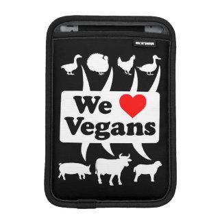 We love Vegans II (wht) iPad Mini Sleeve