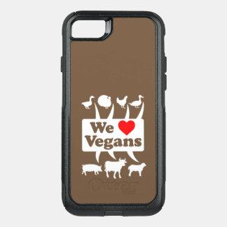 We love Vegans II (wht) OtterBox Commuter iPhone 8/7 Case