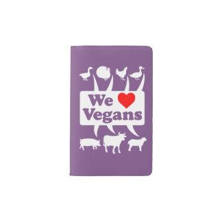 We love Vegans II (wht) Pocket Moleskine Notebook